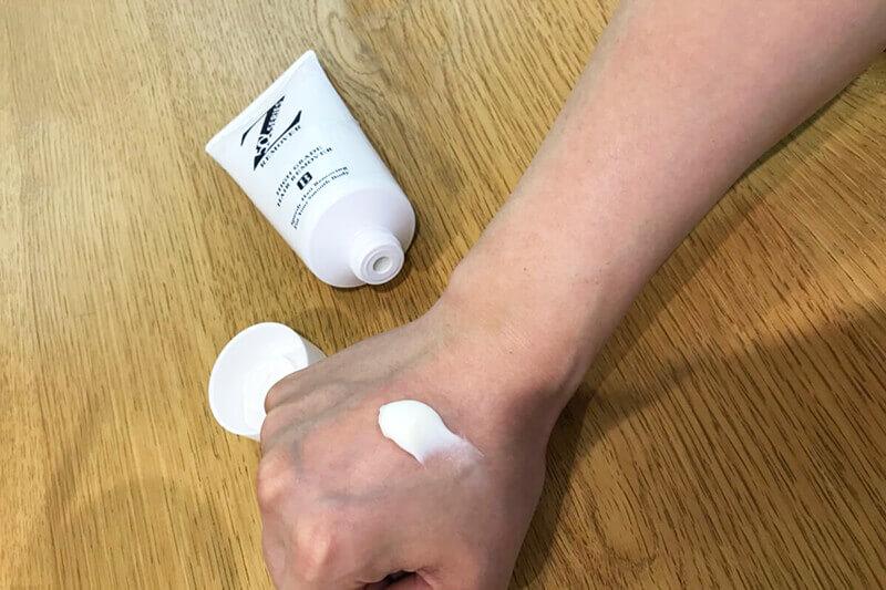 除毛クリーム「Zリムーバー」検証:パッチテストは実際に使用する箇所や不安を抱えている箇所に塗布を