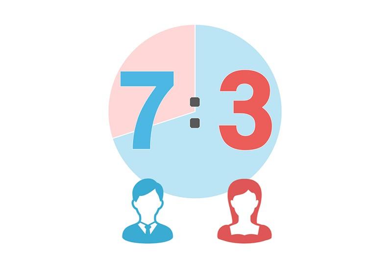 Pairs(ペアーズ)を実際に使って検証レビュー!:会員の男女比は男性7・女性3