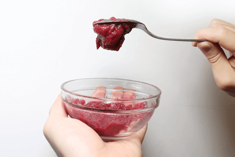 もぎたて生スムージーを実際に利用して効果を検証:推奨量より多く粉末を入れるとゼリー状に。ただし注意が必要