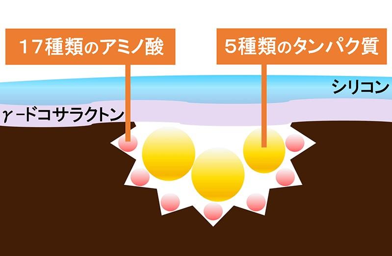 トリコレ(Tricore)温感ヘッドスパトリートメントの特徴:22種類の栄養素を配合!使い続けるごとに髪のダメージを補修