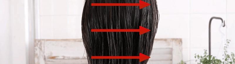 トリコレ(Tricore)温感ヘッドスパトリートメントの使い方:③後頭部は横にスライドしながら塗っていく